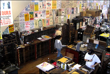 Hatch Show Print's overwhelming interior